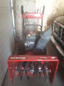 24 inch gas snowblower with electric start