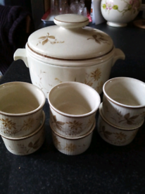 Royal doulton ramikins and casserole.