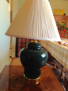 Green spice jar lamp and shade Kitchener / Waterloo Kitchener Area image 1