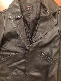 Topshop katemoss leather jacket for SALE