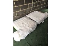 2 foam cushions from large sofa. Ideal for upholstery