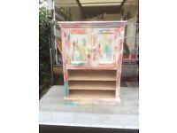Painted pine storage unit