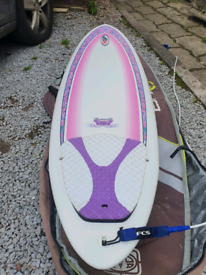 6'8 NSP surf Betty surfboard + bag and leash
