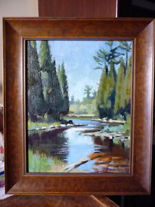 Summer River Scene, Summer Colors by Dick Marvin