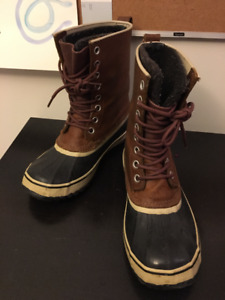Sorel 1964 Winter Boot, Women's Size 10, Brown Leather