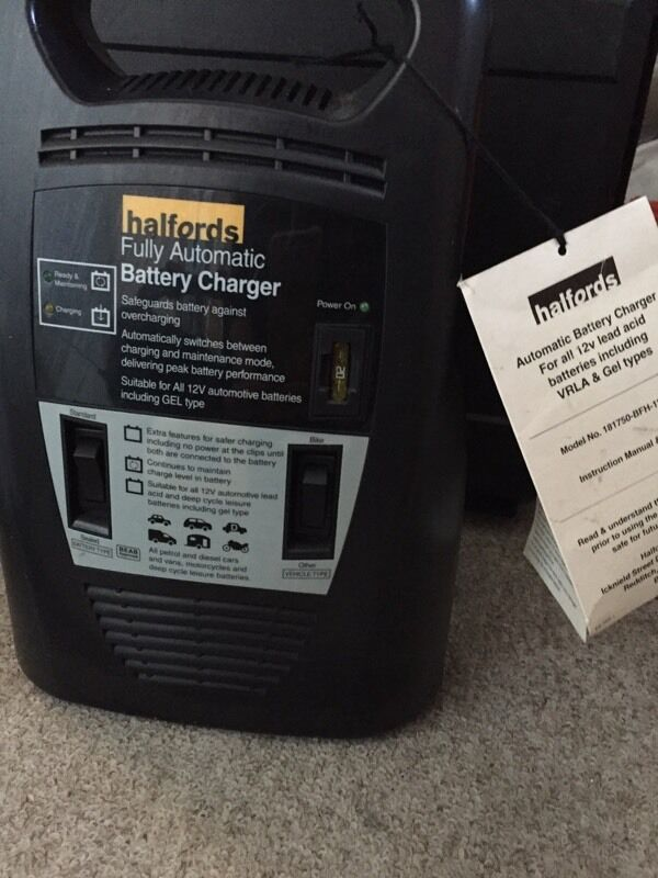 Halfords Fully Automatic Battery Charger Rrp 163 39 In