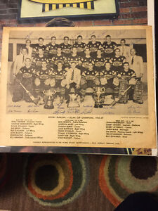 1956-57 Whitby Dunlops Allan Cup Hockey Photo