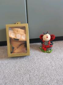 Babys timberland set and ladybug money box