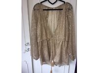 Glitter Gold Playsuit