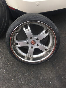 911 Porsche Rims made in Germany and tires off 2004 turbo