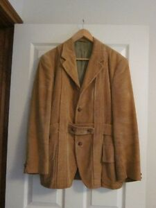 Men's Vintage Corduroy Belted Jacket, Light Brown, Size  Medium Oakville / Halton Region Toronto (GTA) image 1
