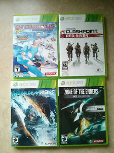 Lot 4 jeux FlashPoint Zone of the Enders Metal Gear XBOX 360