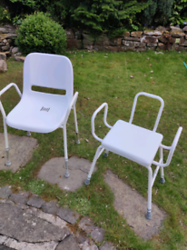 Mobility perching stool and shower chair