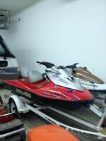 Supercharged Sea-Doo and 1200cc Polaris PWC with trailer