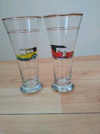 Pair of Vintage Pilsner Glasses