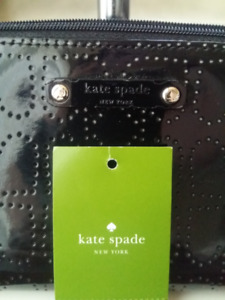 Kate Spade metro spade cosmetic bag glossy black