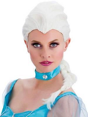 White Magical Princess Wig Womens Ladies Fancy Dress Elsa Frozen Snow - Womens Elsa Kostüm