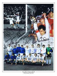 RARE PHOTO PROOF MULTI SIGNED 1982 EUROPEAN CUP SIGNED PHOTO ASTON VILLA COA
