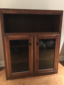 2 Cherry Stained Maple Cabinets