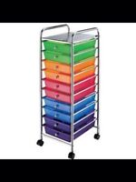 Cororful storage cart with wheels purchased at Michael's!