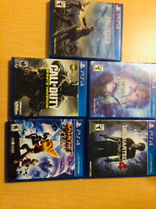 Selling barely used ps4 games@@
