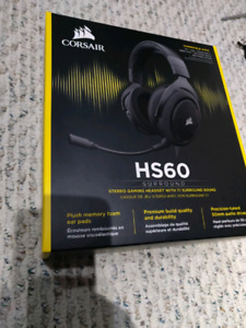 Corsair HS60 gaming headphones brand new with receipt