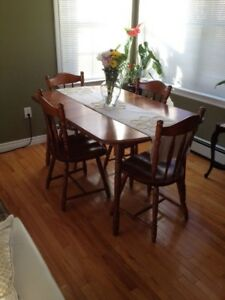 Hardwood Table and 4 Chairs
