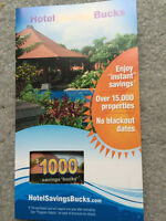 $1000 Vacation Hotel Savings Card