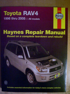 Haynes Repair Manual for a Toyota Rav 4 (1996 thru 2005)