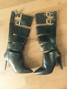 NEW BCBG Tall Boots with Gold hardware
