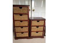 Basket storage units