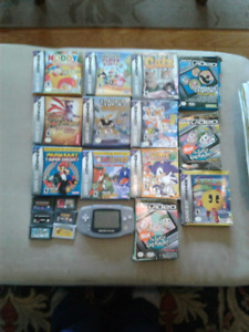 Gameboy  advance game lot and system