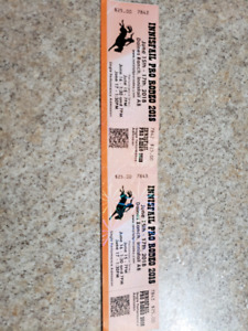 2 Innisfail pro rodeo tickets