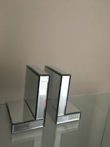 Elegant Mirrored Bookends