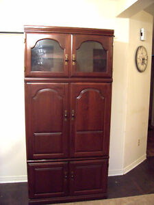 Fancy Tall Mahogany TV Cabinet/Armoire for sale