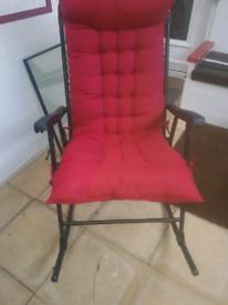 Black/grey rocking chair