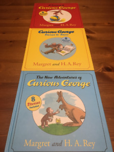 3 Curious George Books - 8 stories in each book!