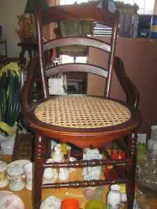 2 Rosewood Caned Chairs