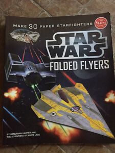 STAR WARS FOLDED FLYERS PAPER AIRPLANE BOOK