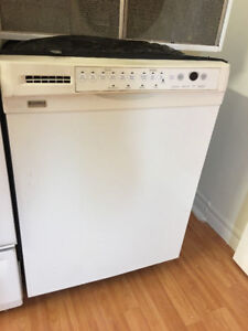 """Kenmore white 24"""" under the counter dishwasher stainless inside"""