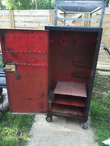 Metal Storage, tool box on wheels. OBO