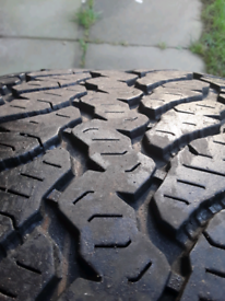 Chunky winter or all terrain tyres