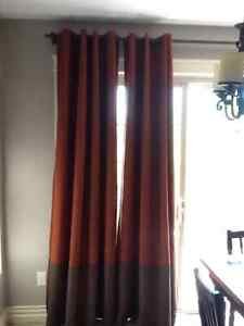 4 Custom lined curtain panels