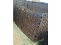 Triple wheelie bin willow cover screen