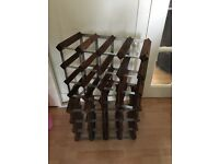 2 LOVELY WOODEN WINE RACKS BOTH IN EXCELLENT CONDITION