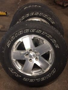 "Jeep Wrangler 18"" wheels & tires Kitchener / Waterloo Kitchener Area image 2"
