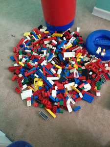 Mega Bloks barrel full of Lego, Lego System booklets.. $40 lot
