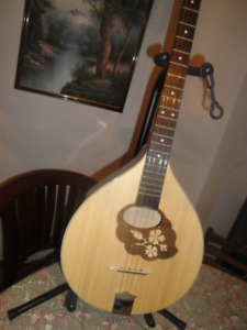 IRISH BOUZOUKI SOLID WOOD MADE N ROMANIA ANOTHER BLACK NEW  $360