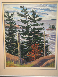 Oil Painting, signed, Aidan Haley - $50 (Cabbagetown)