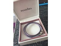 Purple rope pandora bracelet